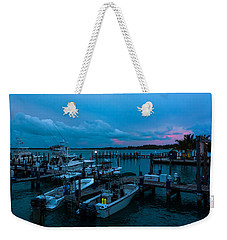 Bimini Big Game Club Docks After Sundown Weekender Tote Bag