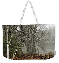 Birch In Winter Weekender Tote Bag