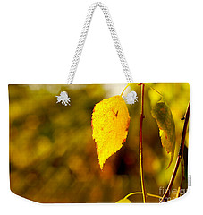 Birch Leaves Weekender Tote Bag