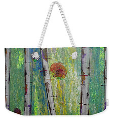 Birch - Lt. Green 5 Weekender Tote Bag