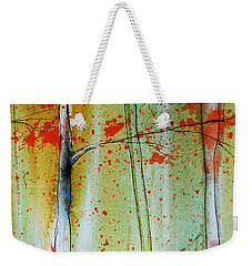 Birch Tree Forest Closeup Weekender Tote Bag