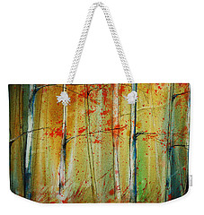 Birch Tree Forest I Weekender Tote Bag