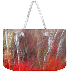 Birch Trees Abstract Weekender Tote Bag by Tara Turner