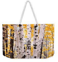 Birch Trees In The Fall Weekender Tote Bag