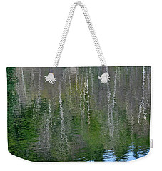 Birch Trees Reflected In Pond Weekender Tote Bag