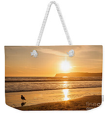 Bird And His Sunset Weekender Tote Bag