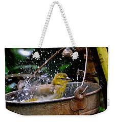 Bird Bath Weekender Tote Bag