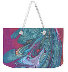 Weekender Tote Bag featuring the painting Bird Dance by Mike Breau