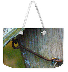 Bird Feeder Locked Memory Weekender Tote Bag by Brenda Brown