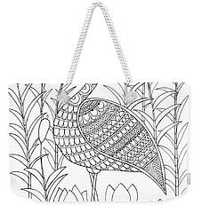 Bird Flamingo Weekender Tote Bag by Neeti Goswami
