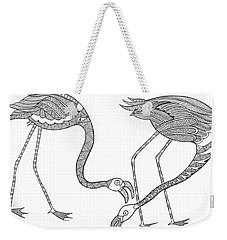 Bird Flamingos 2 Weekender Tote Bag