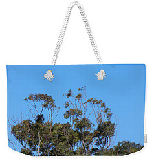 Weekender Tote Bag featuring the photograph Bird In A Tree by Mark Blauhoefer