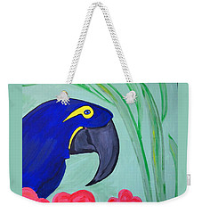 Weekender Tote Bag featuring the painting Bird In Paradise   by Nora Shepley