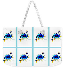Weekender Tote Bag featuring the digital art Bird Lady 2 by Ann Calvo