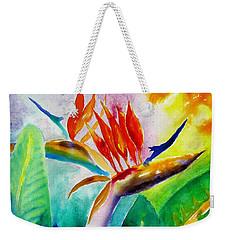 Bird Of Paradise Weekender Tote Bag by Carlin Blahnik