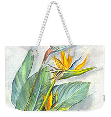 Bird Of Paradise Weekender Tote Bag by Carol Wisniewski