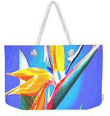 Weekender Tote Bag featuring the painting Bird Of Paradise Flower by Sophia Schmierer