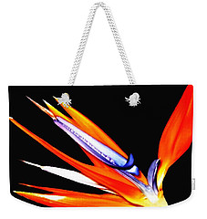 Bird Of Paradise Flower With Oil Painting Effect Weekender Tote Bag by Rose Santuci-Sofranko