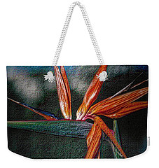 Weekender Tote Bag featuring the photograph Bird-of-paradise by Nadalyn Larsen
