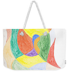 Weekender Tote Bag featuring the painting Duck by Stormm Bradshaw