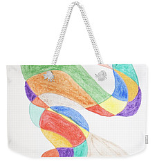 Weekender Tote Bag featuring the painting Bird Snake by Stormm Bradshaw