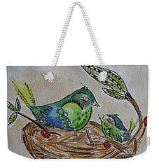 Bird Talk Weekender Tote Bag
