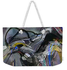 Weekender Tote Bag featuring the digital art Bird That Wept With Me by Richard Thomas