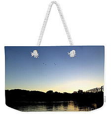 Birds And Blues Weekender Tote Bag