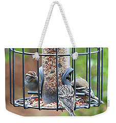 Birds At Lunch Weekender Tote Bag
