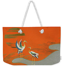 Birds At Sunset On The Lake Weekender Tote Bag