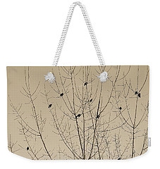 Birds Gather Weekender Tote Bag