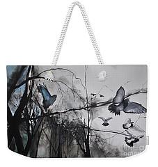 Weekender Tote Bag featuring the photograph Birds by Maja Sokolowska