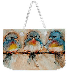 Birds Of A Feather Weekender Tote Bag by Jani Freimann