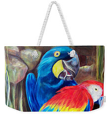 Bird's Of A Feather, Macaws Weekender Tote Bag