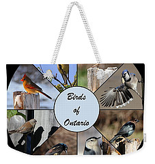Birds Of Ontario Weekender Tote Bag by Davandra Cribbie