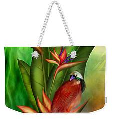 Birds Of Paradise Weekender Tote Bag by Carol Cavalaris