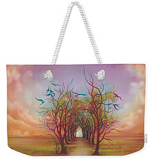 Birds Of Rainbow Mist Weekender Tote Bag by Anna Ewa Miarczynska