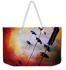 Birds On A Wire Weekender Tote Bag by Micki Findlay
