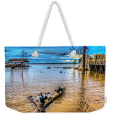 Birds On Log Weekender Tote Bag