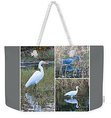 Birds On Pond Collage Weekender Tote Bag by Carol Groenen