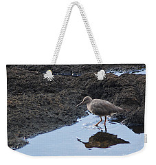 Weekender Tote Bag featuring the photograph Bird's Reflection by Belinda Greb