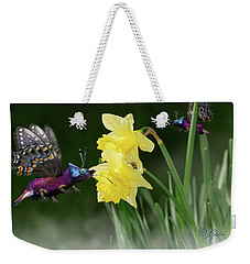 Weekender Tote Bag featuring the photograph Birguana Taster by Arthur Fix
