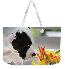 Birthday Bouquet Weekender Tote Bag by Shelley Neff