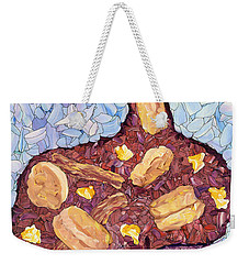 Weekender Tote Bag featuring the painting Biscuit Basket by James W Johnson