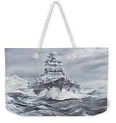 Bismarck Off Greenland Coast  Weekender Tote Bag by Vincent Alexander Booth