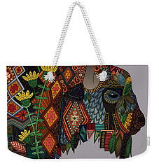 Bison Heather Weekender Tote Bag by Sharon Turner