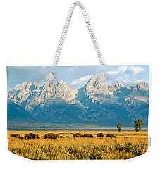 Bison Herd Weekender Tote Bag