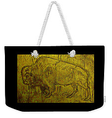 Golden  Buffalo Weekender Tote Bag