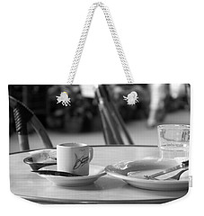 Weekender Tote Bag featuring the photograph Bistro - Paris by Lisa Parrish