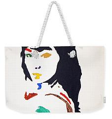 Weekender Tote Bag featuring the painting Bjork by Stormm Bradshaw